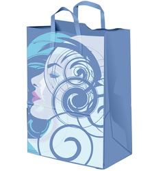 Beauty paper bag vector