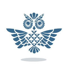 Blue owl vector