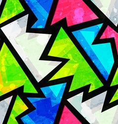 bright grunge geometric seamless pattern vector image