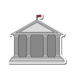Building flag university design vector