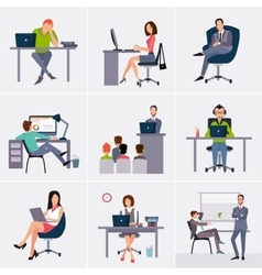 Business process infographics elements vector