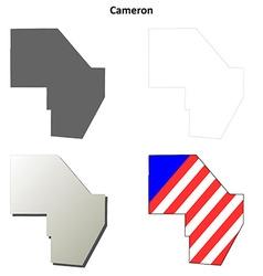 Cameron map icon set vector