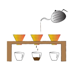 Coffee maker hand drawn coffee drip vector