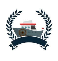 Cruice boat travel isolated icon vector
