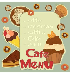 Design Cafe Menu vector image
