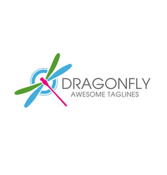dragonfly logo vector image