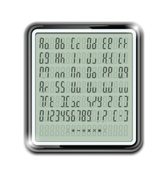 electronic calculator font vector image
