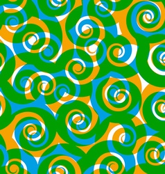 Green curls seamless pattern background vector image