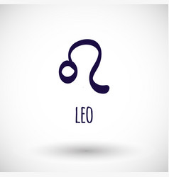 Leo zodiac sign icon vector