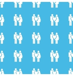 Love couple straight pattern vector image