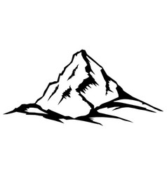 Mountain peak landscape series vector