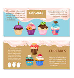 Online shopping muffin flyers design vector