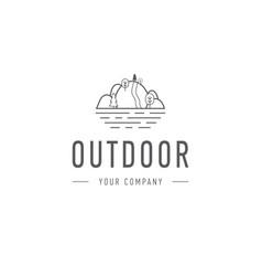 outdoor explorer badge of outdoor vector image vector image