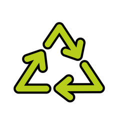 Recycle arrows symbol vector