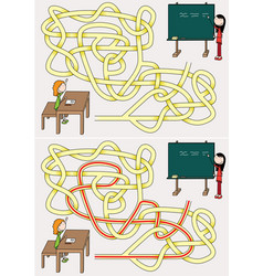 school maze vector image vector image
