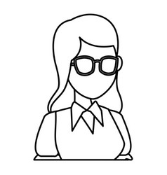 school teacher cartoon vector image vector image