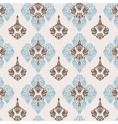 seamless pattern damask style vector image vector image
