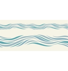 Seamless pattern with stylized blue waves vector image vector image