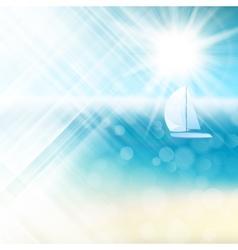 Summer sun light burst eps 10 vector