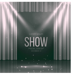 theater stage with curtains vector image vector image