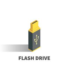 usb flash drive icon symbol vector image vector image