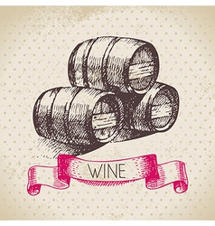 Wine vintage background vector image