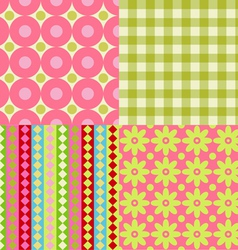 Set of scrapbook backgrounds vector