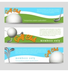 Golf club banners template vector image