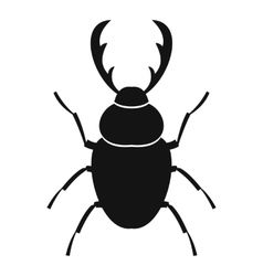 Stag beetle icon simple style vector