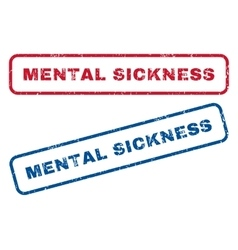 Mental sickness rubber stamps vector