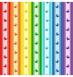striped rainbow pattern vector image