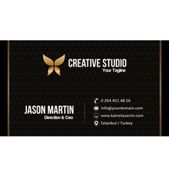 Prestige business card vector