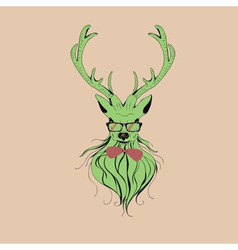 Hipster stag 8 vector