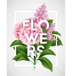 Stylish poster with beautiful flowers vector