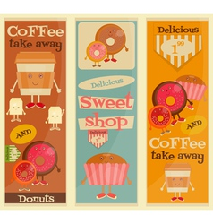 Cafe sweet shop vector