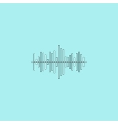 Sound wave icon - equalizer music element vector