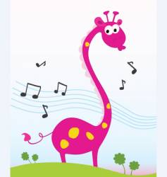Singing giraffe vector