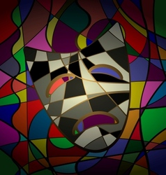 Abstract background theatrical mask tragedy vector