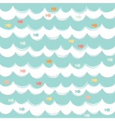 Simple seamless sea background vector image