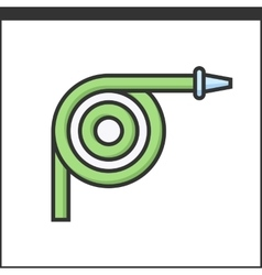 Garden hose icon vector