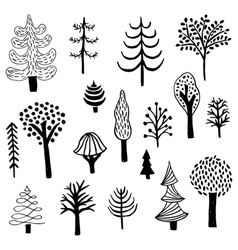 Ink trees vector