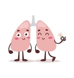 Clean healthy lungs vector