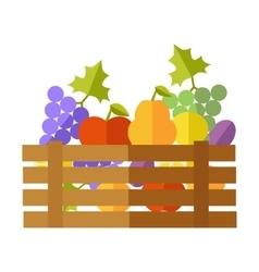 Fresh fruits at the market vector