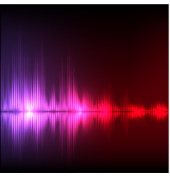 Abstract equalizer background purple-red wave vector