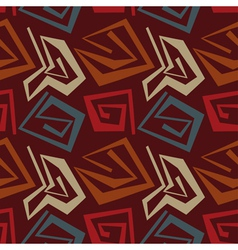 Abstract seamless pattern in tribal style vector