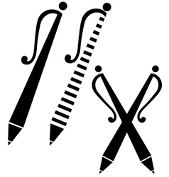 black pen sign vector image