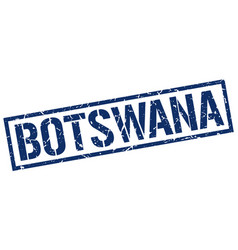 Botswana blue square stamp vector