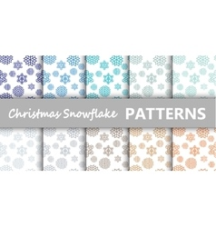 Christmas pastel snowflake vector image vector image