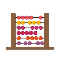 Colorful wood abacus with base and spheres vector