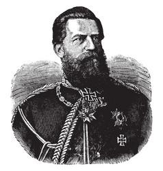 Frederick iii german emperor vintage vector